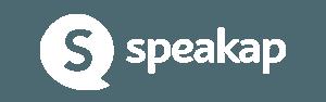 Speakap logo white horizontal - Internal communication